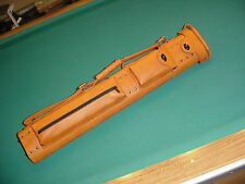 SAVE $100 BEAUTIFUL CARAMEL LEATHER 3x6 CUE CASE  pool billiards 017-5762-15
