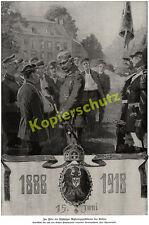 Wilhelm II. 30. Regierungsjubiläum  GHQ Spa Stabswache Wappen Kaiserkrone 1918!