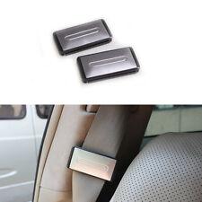 2x Silver Safety Seat Belt Adjuster Stopper Clip Shoulder Relax Neck Supports