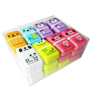 1 Pcs Roller Eraser Cute Cartoon Rubber Kawaii Students Stationery Supplies