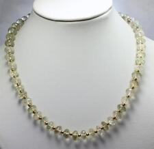 prasiolith Cadena de piedra preciosa,AAA calidad, collar, Verde Amatista Joya