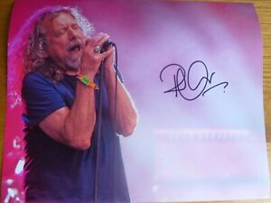 """ROBERT PLANT ( LED ZEPPELIN )   AUTOGRAPHED PHOTOGRAPH SIZE 10"""" X 8"""" WITH C.O.A."""