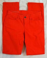 Ann Taylor Modern Slim Coral Corduroy Womens Pants Size 0 NWT (J23#431)