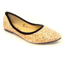 LADIES WOMENS FLATS SLIP-ON SHOES POINTED BALLET BALLERINA CASUAL PUMPS SIZE
