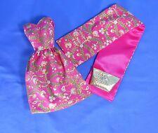 """OOAK """"Miami Trip"""" Belle Dress w/Wrap & Purse for Vintage/Mod/Repro Barbie, Midge"""
