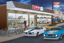 "DAVID SNYDER ""It's Fun"" Limited Edition Print-Schwinn Bicycle Shop/Shell Station"
