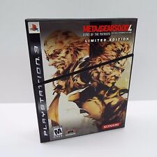 METAL GEAR SOLID 4 GUNS OF THE PATRIOTS LIMITED EDITION PLAYSTATION 3 (D700)