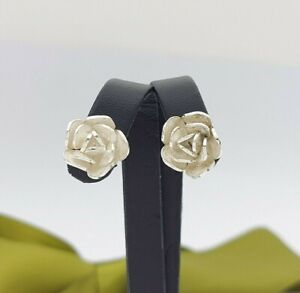 Ladies Earrings Silver (925) Flower Stud Earrings