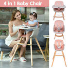 Pink+4+in+1+Baby+High+Chair+Convertible+Feeding+Booster+Toddler+Play+Chair+