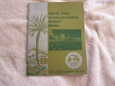 Indio Chamber Commerce What You Should Know 1965-1966