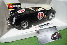 PORSCHE 356 Speeder cabriolet #19 noir  au 1/18 LA MINI MINIERA base BURAGO