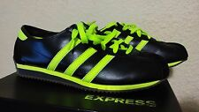 Adidas Casual Bowling Style Mens shoes sz 8 Black/Neon Green Leather/Suede