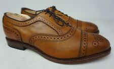 Allen Edmonds Strand Cap Toe Oxford Walnut Brown Leather Shoes Size 9 D & 3E