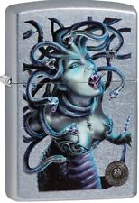 Zippo 2018 Anne Stokes Collection Venomous Medusa Snake Hair Street Chrome 29573