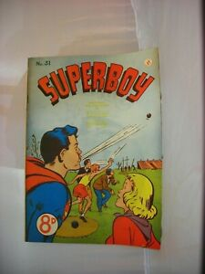 Rare issue #31 of an early Australian Superboy comic