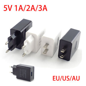 5V 1A/2A/3A Universal USB Charger Travel Wall Power Adapter for iPhone Samsung