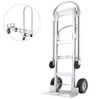 2 In 1 Carrello Pieghevole Estensibile Portapacchi Capacità 400/250kg Alluminio