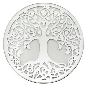 Mirror Tree Of Life Round Mirrored Votive Tea Light Pillar Candles Plate Tray