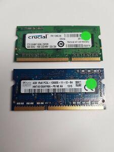 Mixed 2x4GB 8GB DDR3 PC3-12800S Sodimm Ram Modules