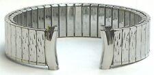 16-18mm Speidel USA Stainless Steel Silver Tone Twist-o-Flex Stretch Watch Band