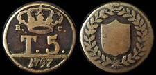 pci960) Regno Due Sicilie  Napoli Ferdinando IV  Tornesi 5 1797