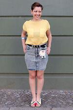 Cosmic Stretch Damen Rock Jeans skirt blau blue 90er True VINTAGE 90´s Damenmode