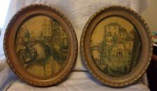 """Set Of 2 Vintage Syroco Style Oval Frames 15 1/2"""" X 13"""""""