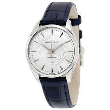 Hamilton Jazzmaster Silver Dial Blue Leather Ladies Watch H42215651