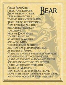 BEAR Parchment-Like Page for Book of Shadows, Altar!