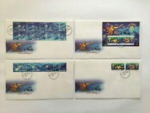 CIFD67) Christmas Island 2004 Year of the Monkey FDC (4 covers)