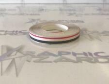 PIN STRIPE circa 10 METRI - 3mm Grigio - 3mm Gap-1.5mm Rosa-coachline Tape/Vinyl