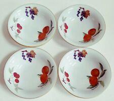 "Royal Worcester Evesham Gold 4 Soup Cereal Bowls Flared Made In England 6 5/8"""