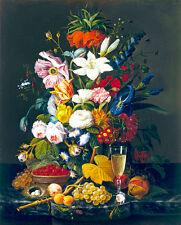 Victorian Bouquet by Severin Roessen 75cm x 60.3cm Canvas Print