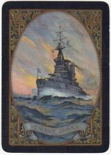 Playing Cards 1 Single Swap Card Antique Wide DREADNOUGHT WW1/Ship VENIANT OMNES