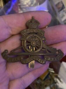 WW1 CAP BADGE - ROYAL ARTILLERY - WORLD WAR I