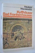 DDR Tourist Verlag Landkarte Wanderatlas Wanderheft Kyffhäuser Bad Frankenhausen