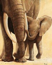 Renée: Elefanten I Fertig-Bild 50x70 Wandbild Tiere Afrika