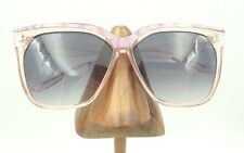 Vintage Jantzen Solmar Transparent Pink Pearl Brow Square Sunglasses Frames