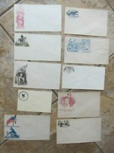 Great Lot, 10 Orig NICELY COLORED CIVIL WAR Patriotic Covers, Envelopes Mail CSA