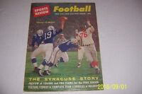 1960 Sports Review BALTIMORE COLTS Johnny UNITAS College / PRO FOOTBALL Preview