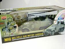 1/16 Radio Control RC M16 Multiple Gn Halftrack Motor Carriage STILL IN BOX