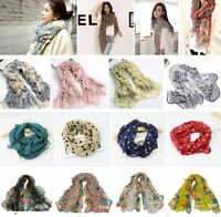 Women's Fashion Pretty Long Soft Chiffon Scarf Wrap Shawl Stole Scarves