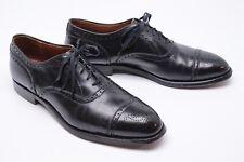 Alden 909 Mens Cap Toe Dress Shoes 11 AA/B Black Leather Punch Brogue Oxford Bal