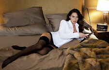 Megan Fox 8X10 sexy stockings panties and white dress shirt