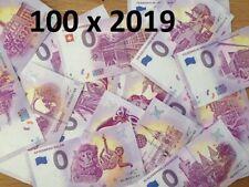 Lot de 100 Billets Euros Schein Souvenir Touristique 2019 Tous pays