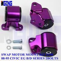 Motor Mount Bracket For Honda Civic 2 Bolt EG D Series B Series Engine 62A  Pur