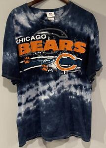 Vintage NFL Team Apparel Chicago Bears Tie Dye Navy Blue Shirt XL