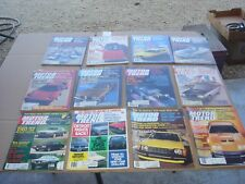 Lot of 12 VINTAGE 1980 MOTOR TREND CAR MAGAZINE Complete Year Chevy Ford Mopar