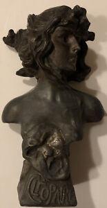 Rare Franz Iffland (1862-1935)Bust Cleopatre Art Nouveau Spelter