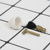 1:12 3x Puppenhaus Mini Miniaturll Waschen Zubehör Rasierer Dreiteiliges  7 S7H0